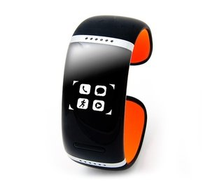 Bluetooth-браслет Smartx L12s (black - orange 58mm) с touch screen